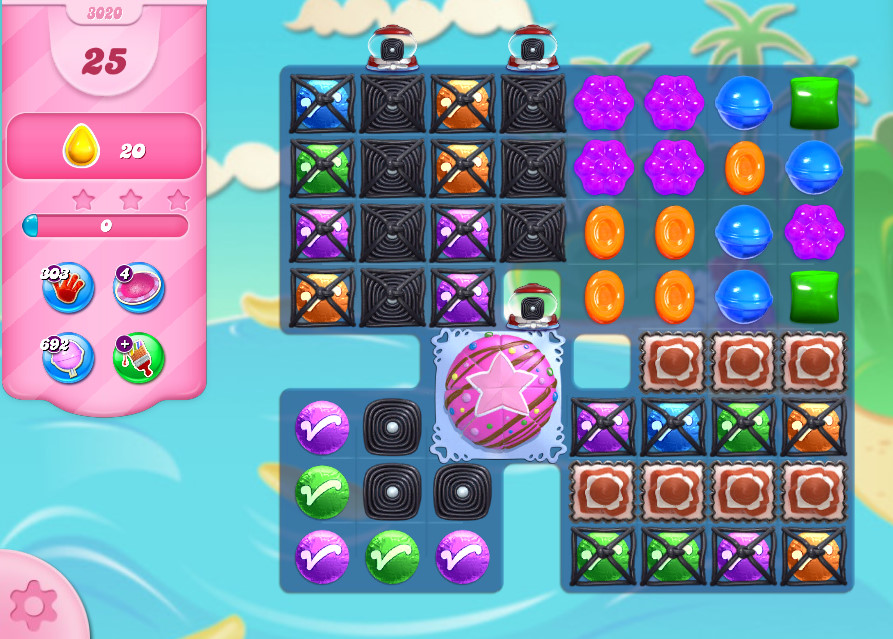 Candy Crush Saga level 3020