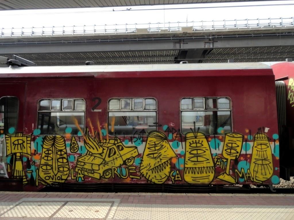 Lego train chemin de fer voie ferrée train cheminot ORANGE