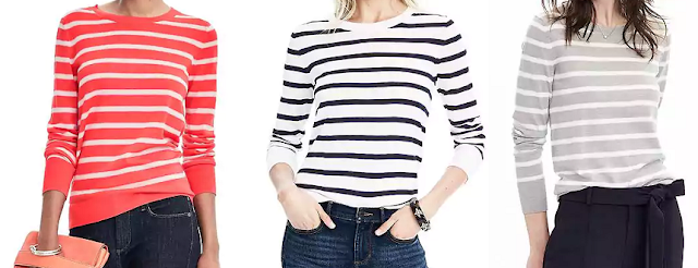 Banana Republic Merino Stripe Crew $27 (reg $68)