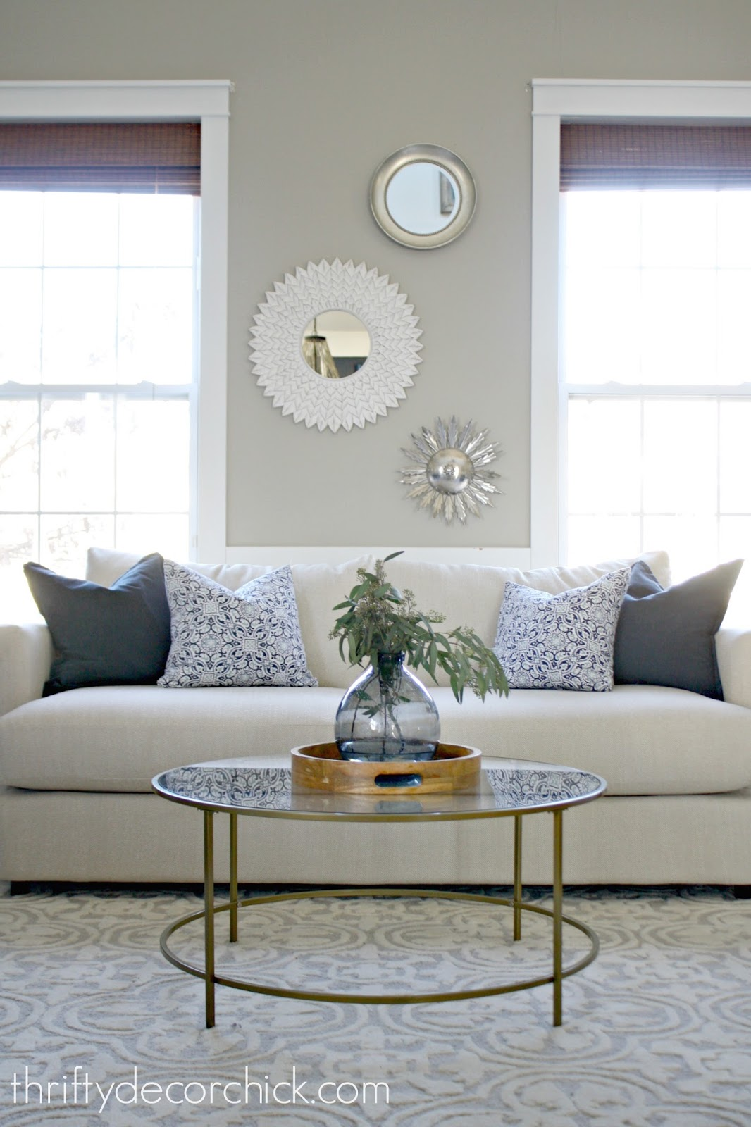 When in doubt add some circles from thrifty decor chick for How to decorate living room table
