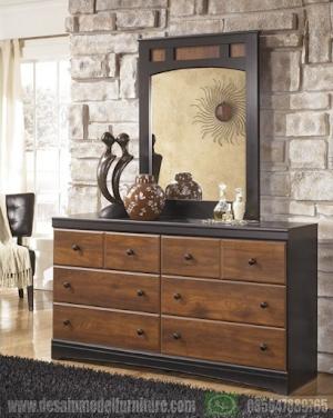 Meja rias vintage minimalis multifungsi kayu jati asli