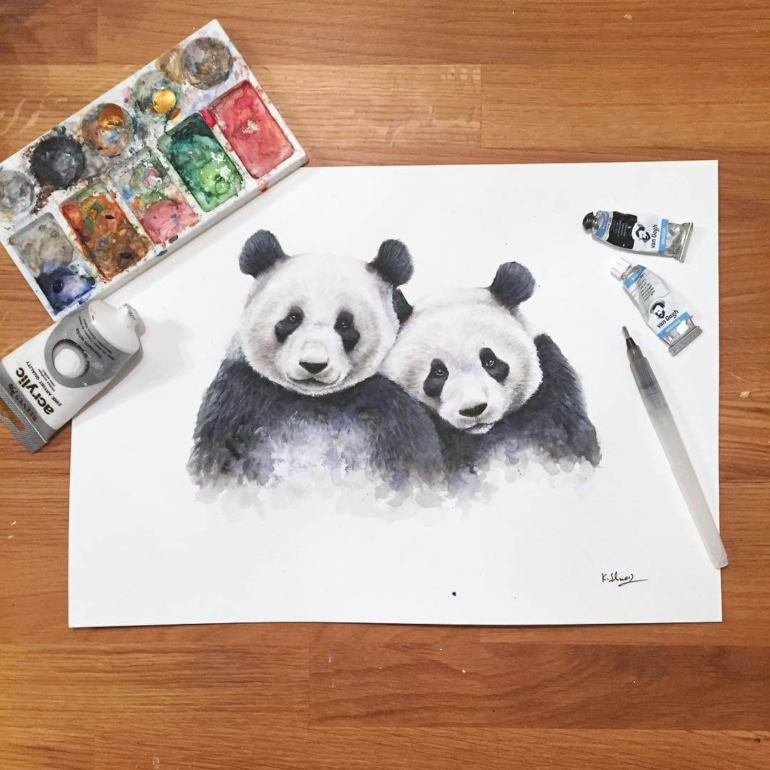 12-Pandas-K-Schwarzoviously-Wildlife-Animal-Paintings-www-designstack-co