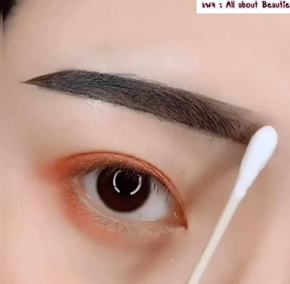 Khmer Native Beauty : How to write Korean girl style eyebrow
