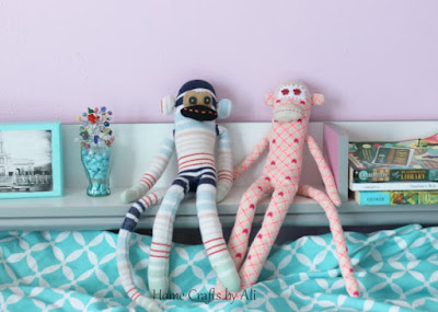 Cute and colorful sock monkeys perfect for kids