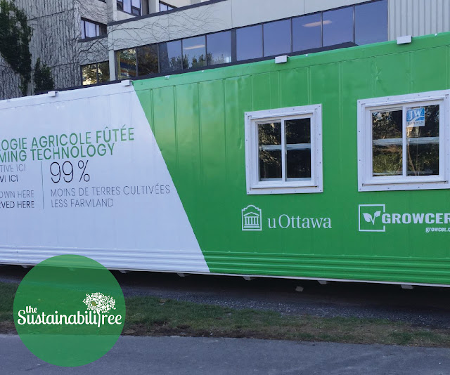 Growcer unit with decals at uOttawa