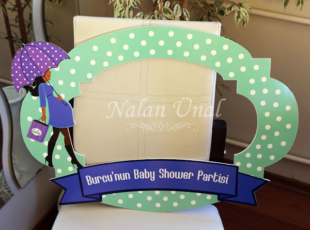 babyshower için photoblok çerçeve