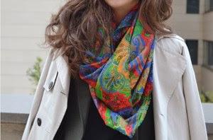 4 maneras de llevar...un pañuelo de colores