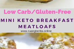 Mini Keto Breakfast Meatloafs - Low Carb/Gluten-Free