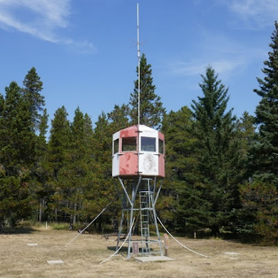 Cypress Hills, Alberta, fire lookout tower, structure, historical