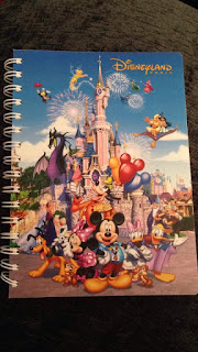 Disney notebook from Disneyland Paris