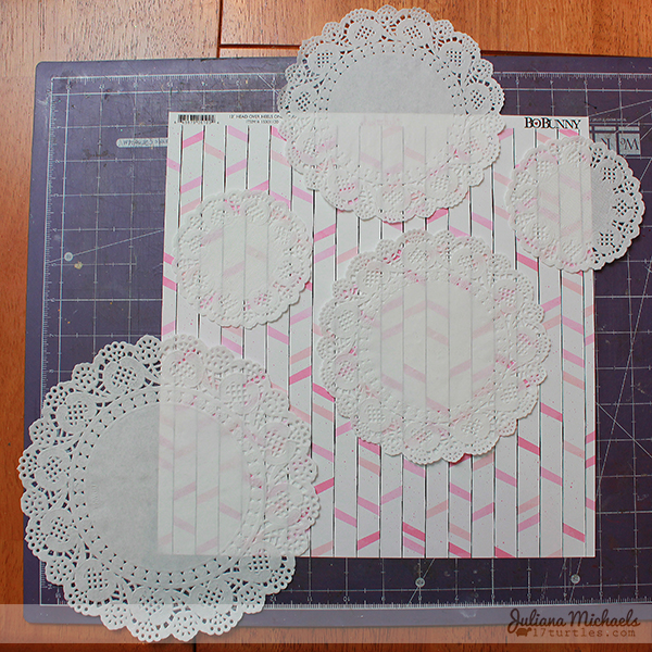 Doily Scrapbook Background Tutorial