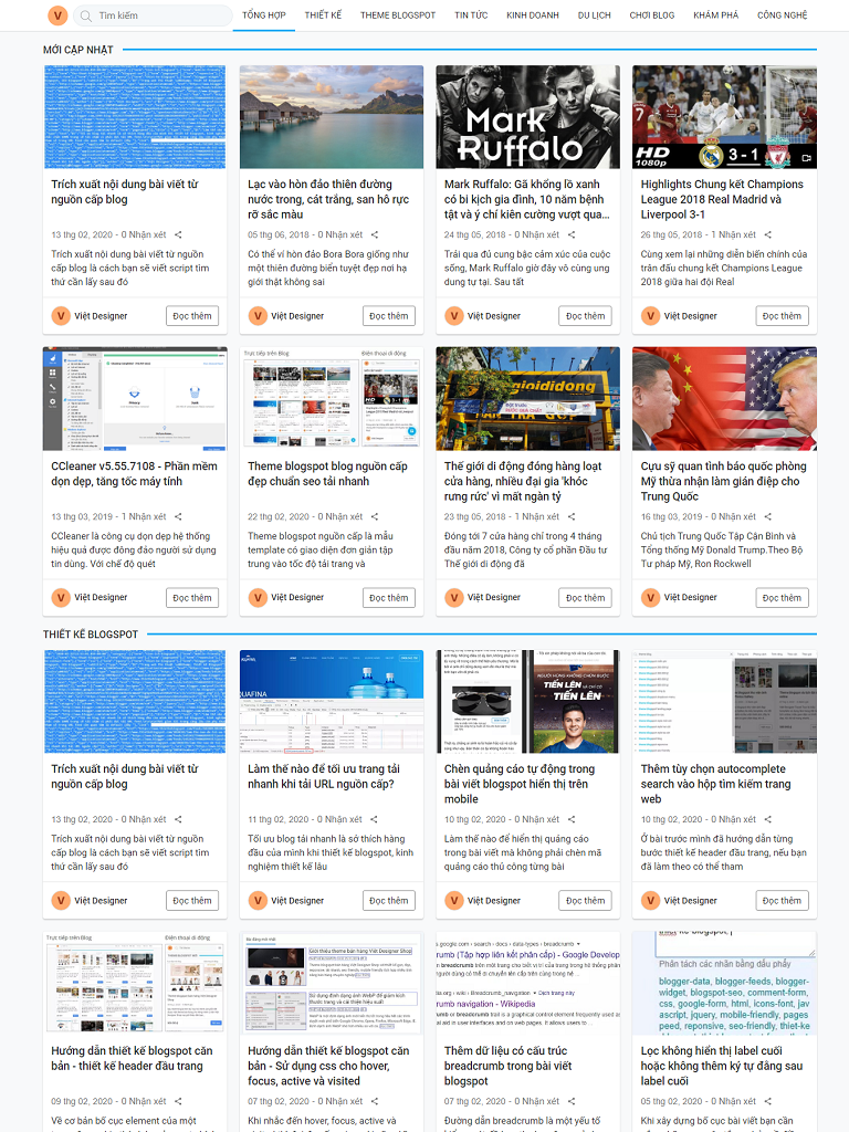 Theme blogspot blog feed đẹp chuẩn seo 2020 - Ảnh 2