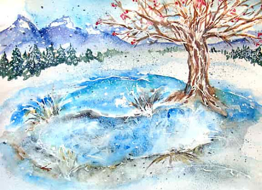 FREE DEMO: Painting Winter Scenes in Watercolor with LIESEL LUND. Feb 11, 2017. 10-11:30