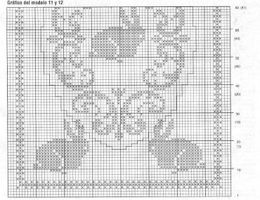 diagramme napperon lapin au crochet