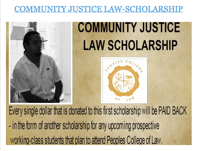 Community Justice Law-Scholarship By Francisco Chavo Romero