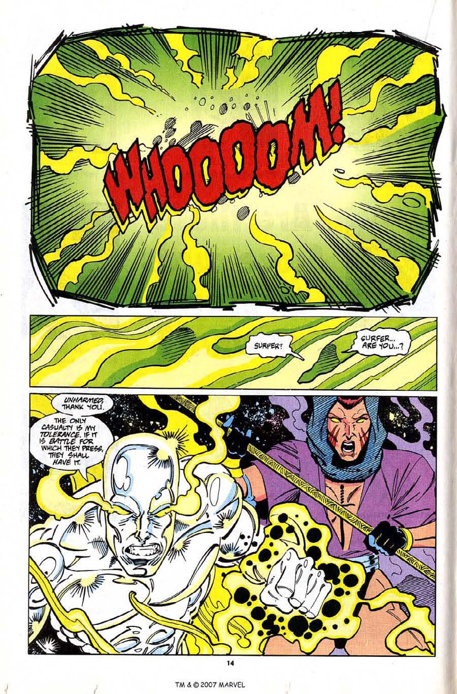 Read online Silver Surfer (1987) comic -  Issue #81 - 16
