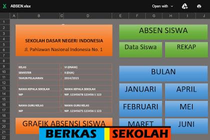 Aplikasi Absensi Siswa dengan Fitur Grafik Bisa Edit