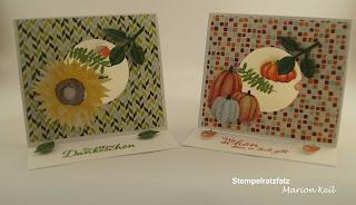 Herbstimpressionen - Aufstellkarte mit Stampin´ Up!