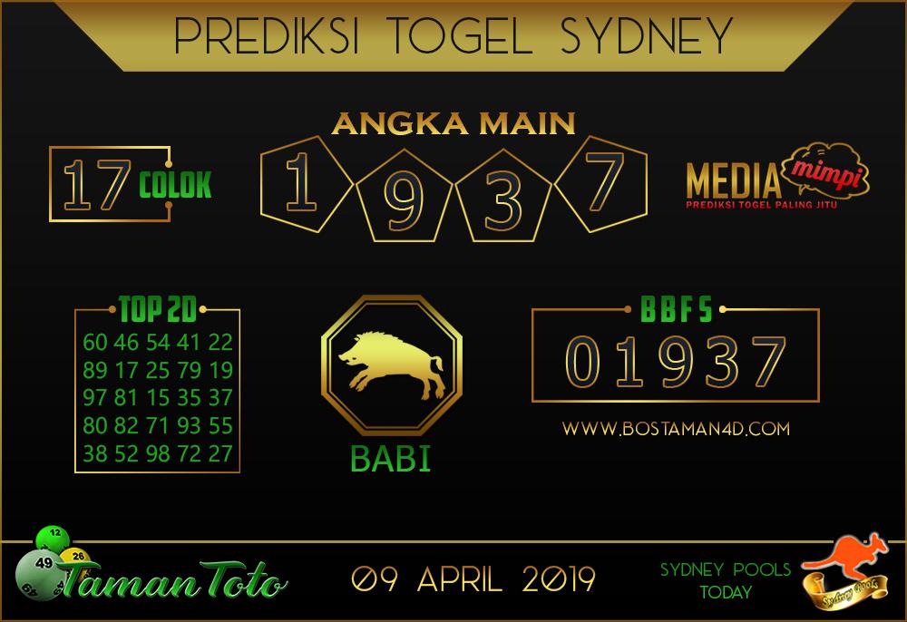 Prediksi Togel SYDNEY TAMAN TOTO 09 APRIL 2019