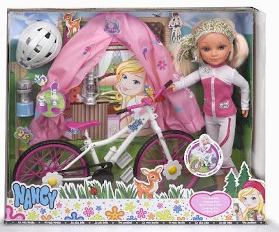 JUGUETES - NANCY  Nancy Camping Bike | Muñeca  Producto Oficial | Famosa 700011631 | A partir de 4 años