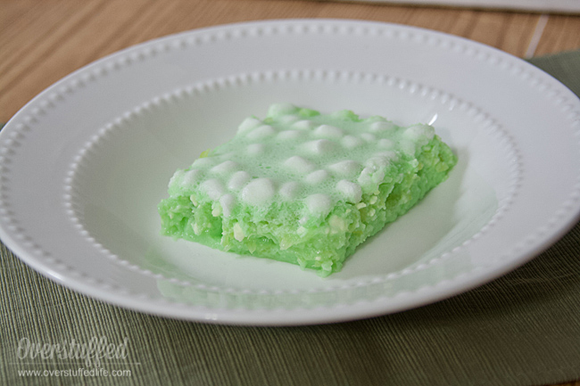 Make this yummy Lime Jello Salad with Cream Cheese and Marshmallows for your St. Patrick's Day dinner