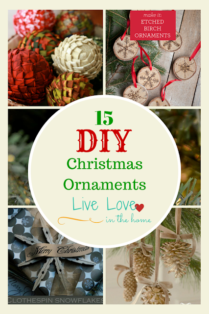 15 DIY Christmas Ornament Ideas