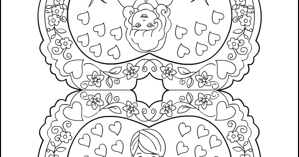 vintage valentine coloring pages - photo#27