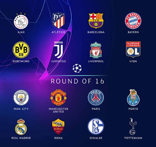 Daftar Tim Babak 16 Besar Liga Champions 2018-2019
