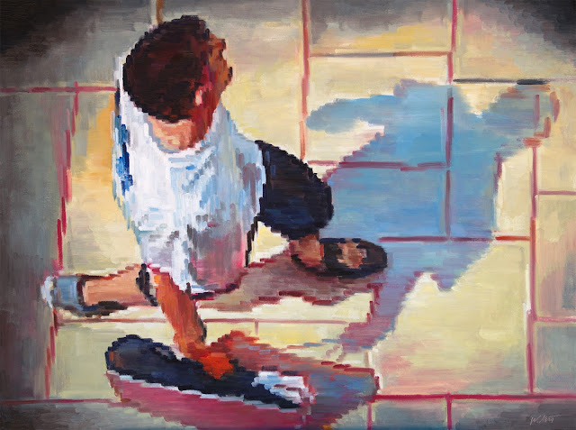 http://www.ugallery.com/oil-painting-aerial-view-of-man-walking-at-the-mall-wearing-t-shirt
