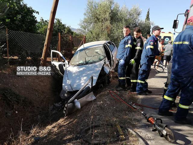 Σοβαρό τροχαίο ατύχημα στο Άργος με δυο νεαρά άτομα τραυματίες (βίντεο)