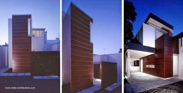 Casa doble contemporánea urbana en lote angosto en Sydney, Australia