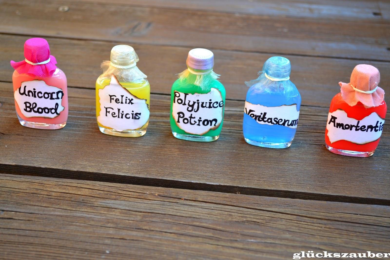 glückszauber : Diy: Harry Potter Dekoration (Zaubertrank-Fläschen ...
