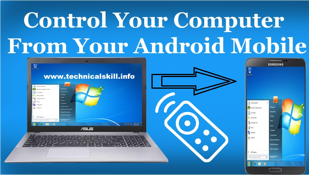 How-to-control-computer-from-mobile, Control-your-PC-from-mobile