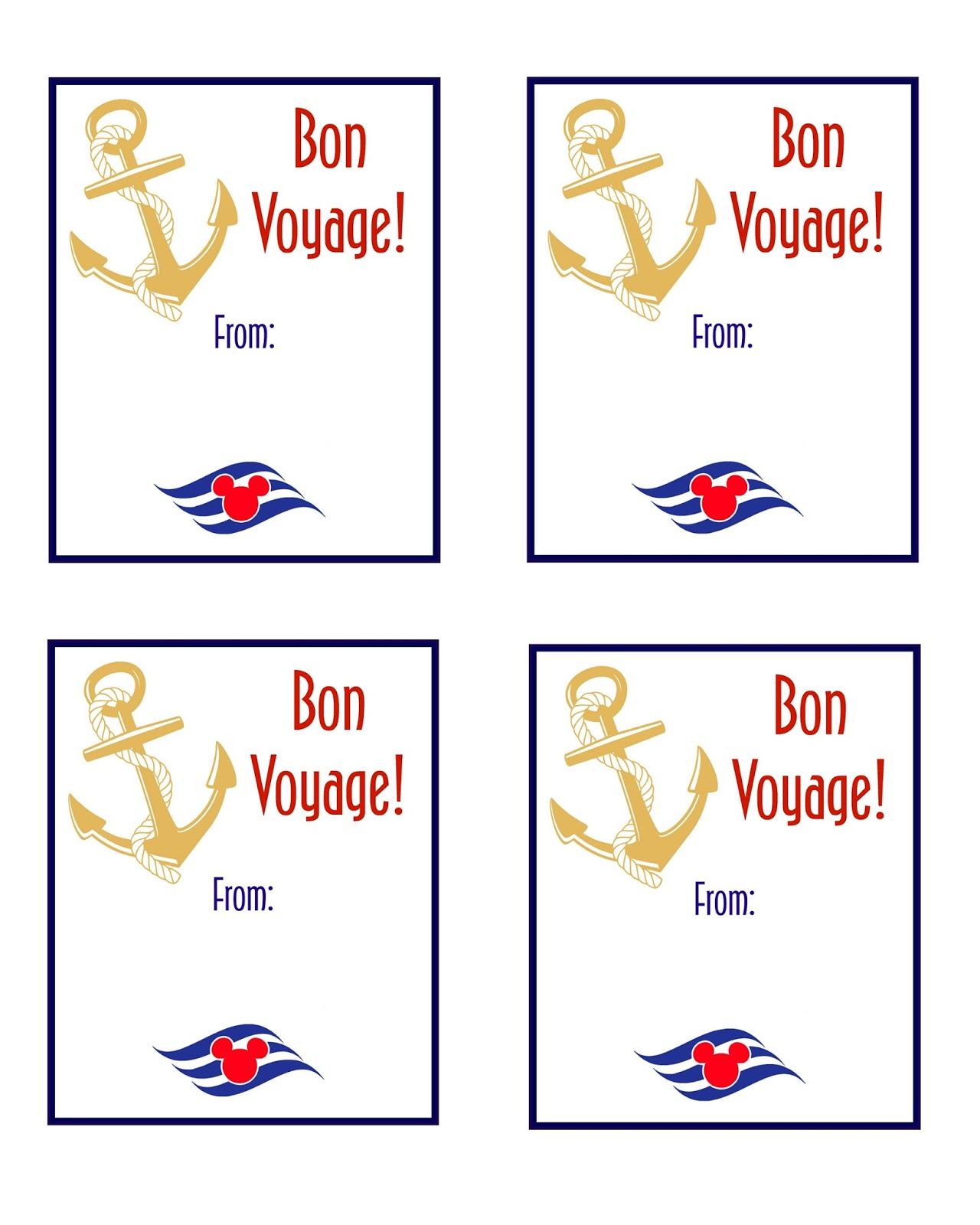 Disney Cruise Fish Extender Printable Gift Tags | The Momma Diaries