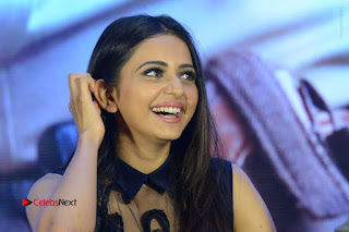 Actress Rakul Preet Singh Stills in Beautiful Blue Long Dress at Dhruva Salute to Audience Event  0134.JPG