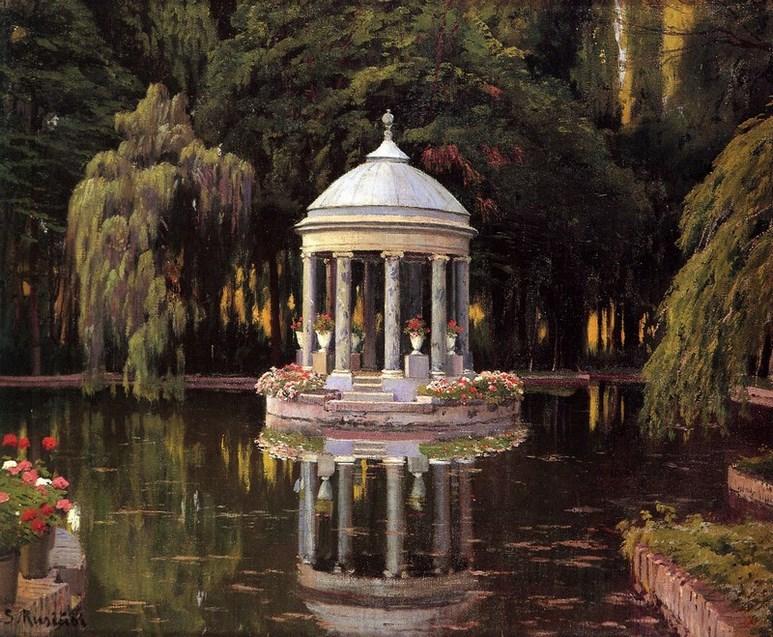 Santiago Rusiñol, La Glorieta, Aranjuez. Jardines de España