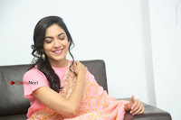 Actress Ritu Varma Pos in Beautiful Pink Anarkali Dress at at Keshava Movie Interview .COM 0324.JPG