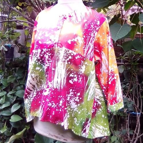Blus Batik Gepyok Warna Pink Buatan Jogja