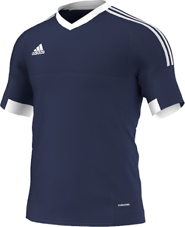75c09067e Adidas offers six different color combinations for the Adidas Tiro 15 2015-16  Teamwear Shirt (Red / White, White / Blue, Blue / White, Black / White, ...