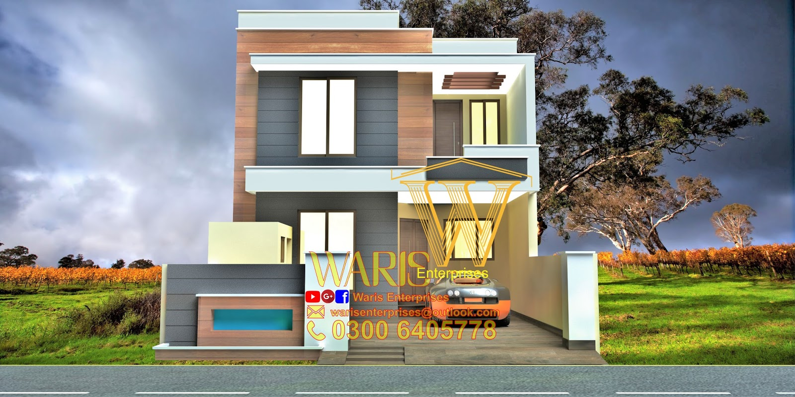 5 marla house designs in pakistan i waris enterprises for 8 marla home designs