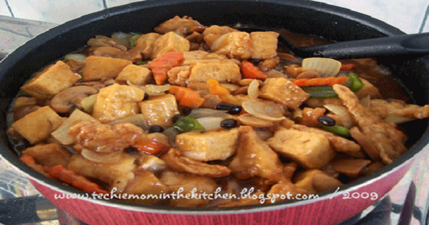 Fish Fillet With Tofu And Tausi (Black Beans) Recipe