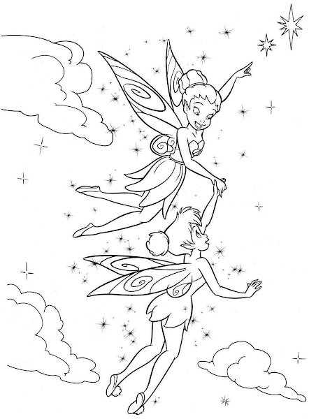 Tinkerbell And Periwinkle Coloring Pictures | Colorings.net