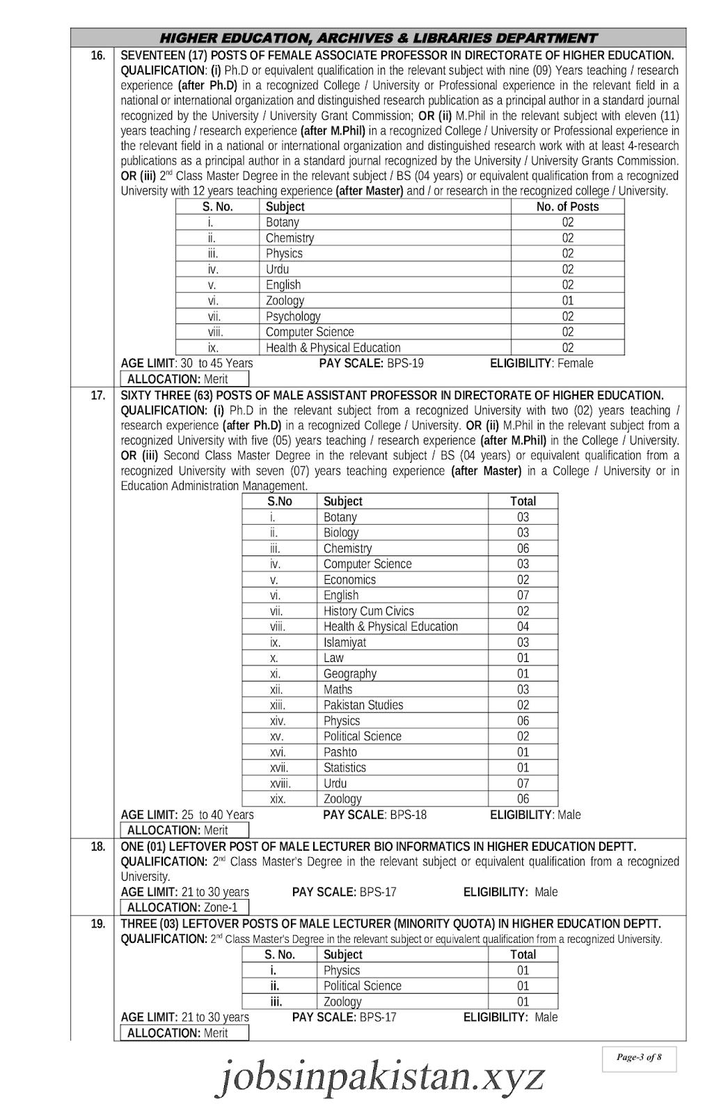 KPPSC Advertisement 08/2018 Page No. 3/8