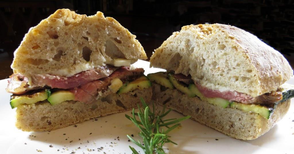 I miei panini panino con tagliata di manzo zucchine for Cucinare entrecote