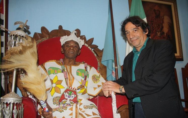 Jose Mendes Ferreira Geleju Adelabu III Tataraneto de ZUMBI dos Palmares - E Carlo Bandeira