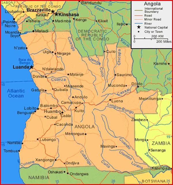 Gambar Peta Angola