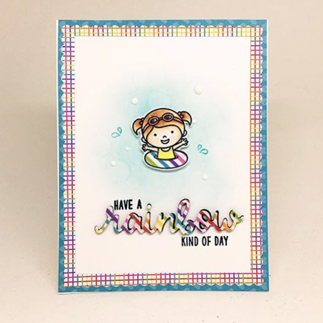 Sunny Studio Stamps: Beach Babies Customer Card Share by Kari V