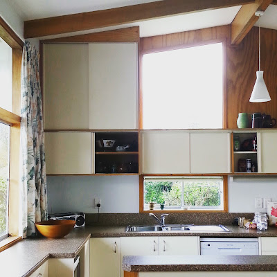 Mid-century modern kitchen.