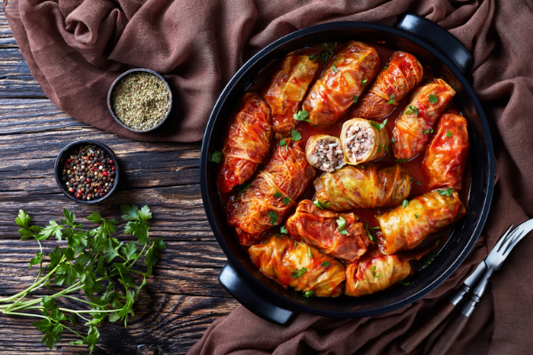 Stuffed Cabbage With Ground Beef Recipe