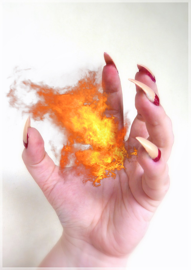 Feuerball in Hand